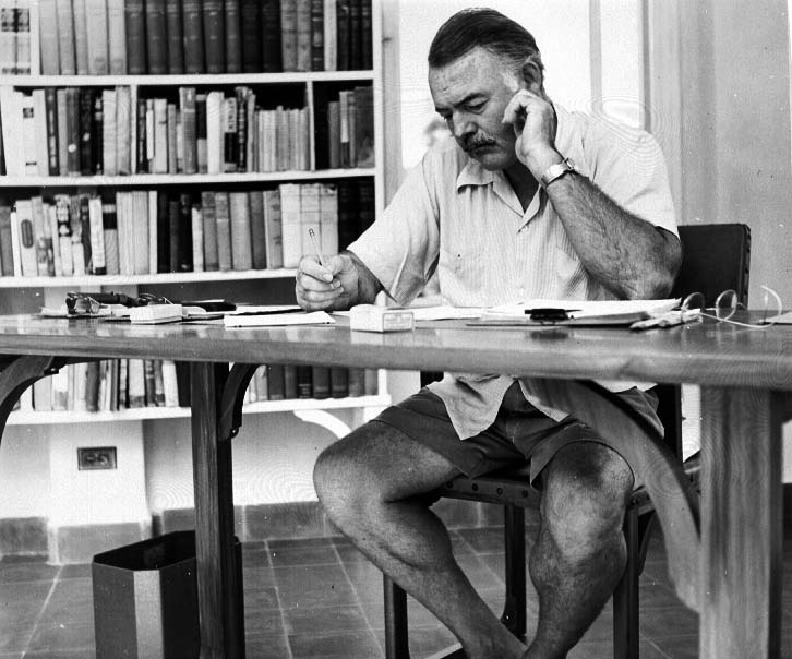Hemingway writes