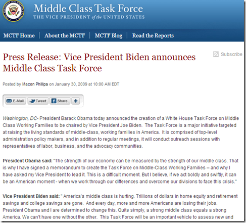 Middle Class Task Force - The White House