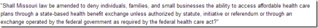Missouri Health Care Exchange Question, Proposition E (2012) - Ballotpedia